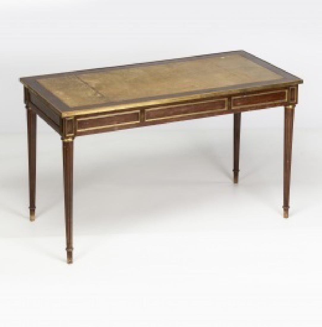 """Louis XVI-style """"bureau plat†table in mahogany - 8"""