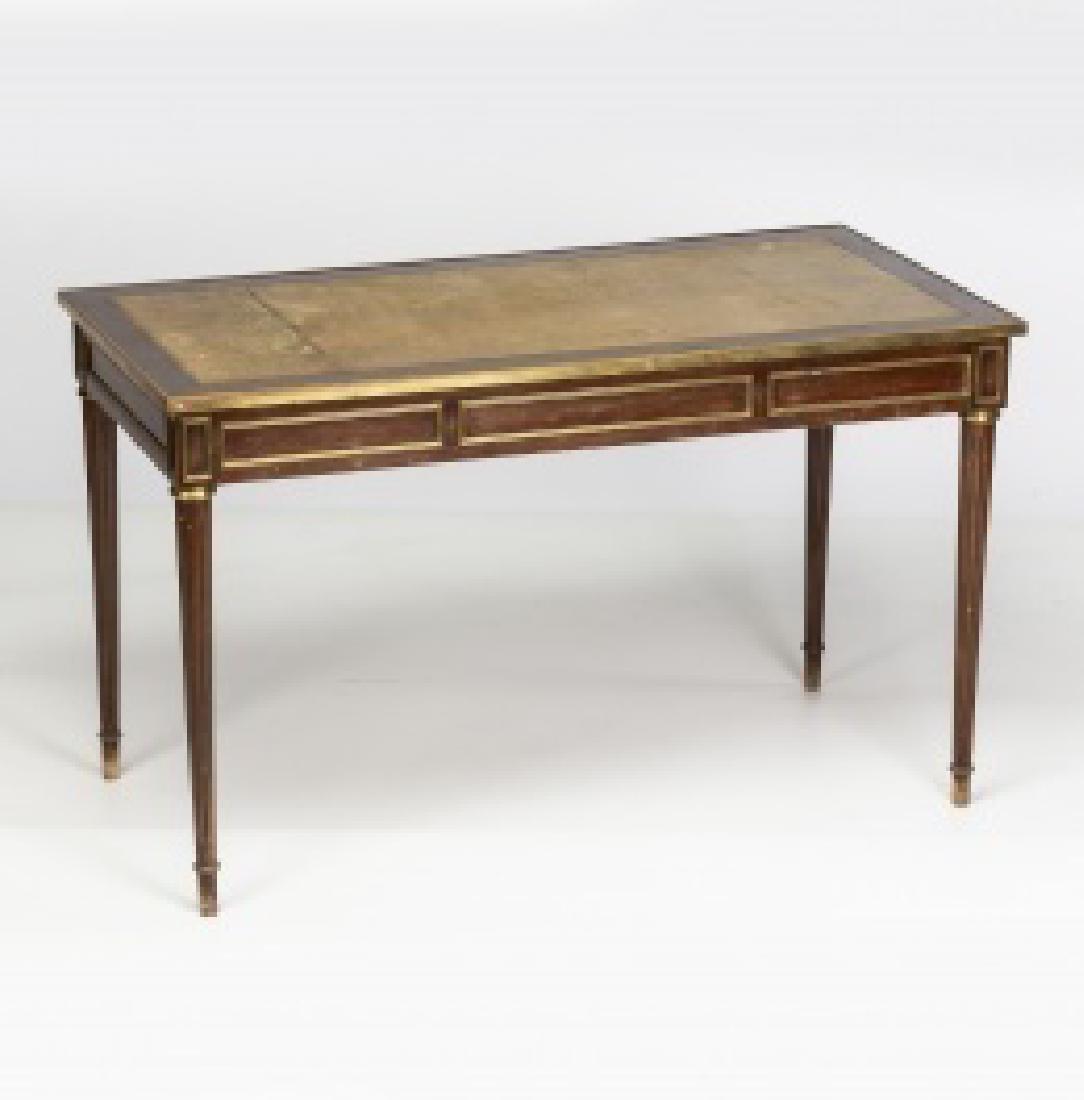"""Louis XVI-style """"bureau plat†table in mahogany - 9"""