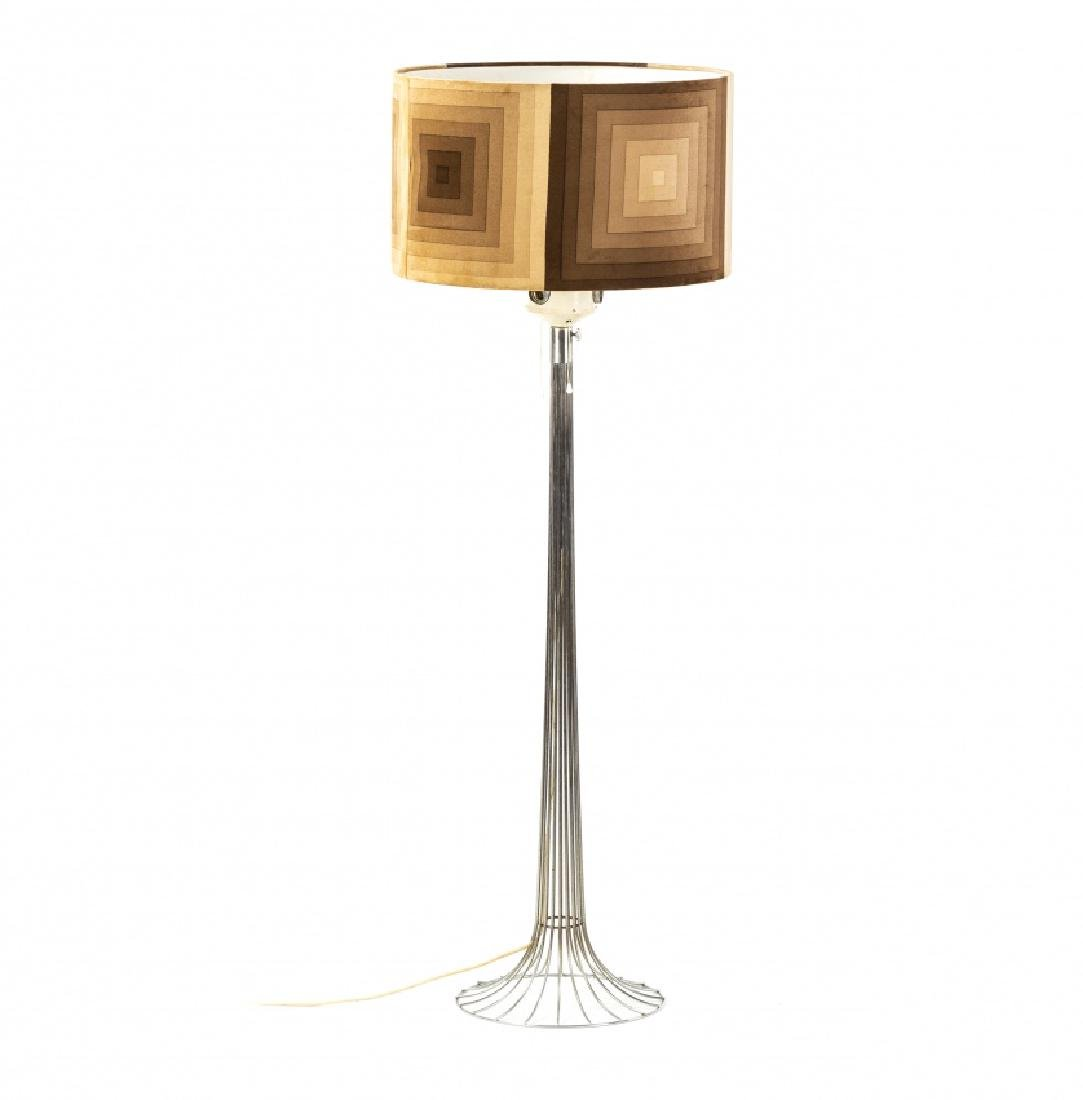 "Verner Panton,  ""Wire"" floor lamp, Chrome steel and"