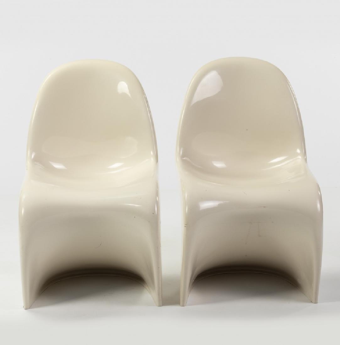 """Verner Panton, Pair of  """"Panton"""" chairs, Moulded"""