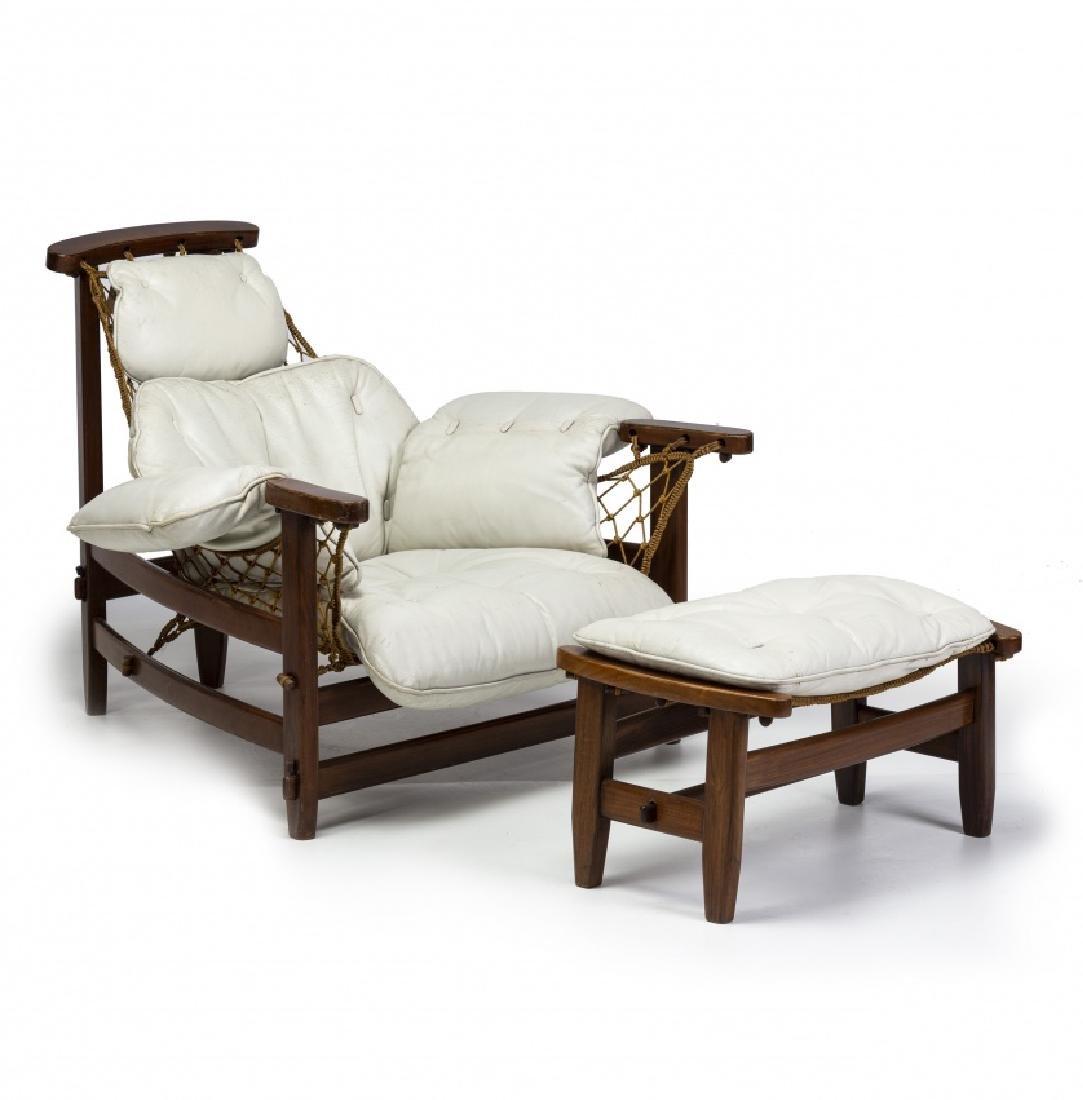 "Jean Gillon, ""Captain's"" armchair with ottoman,"
