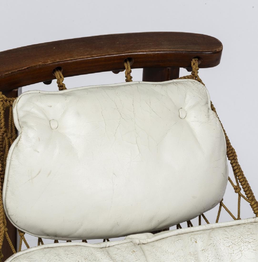 "Jean Gillon, ""Captain's"" armchair with ottoman, - 4"
