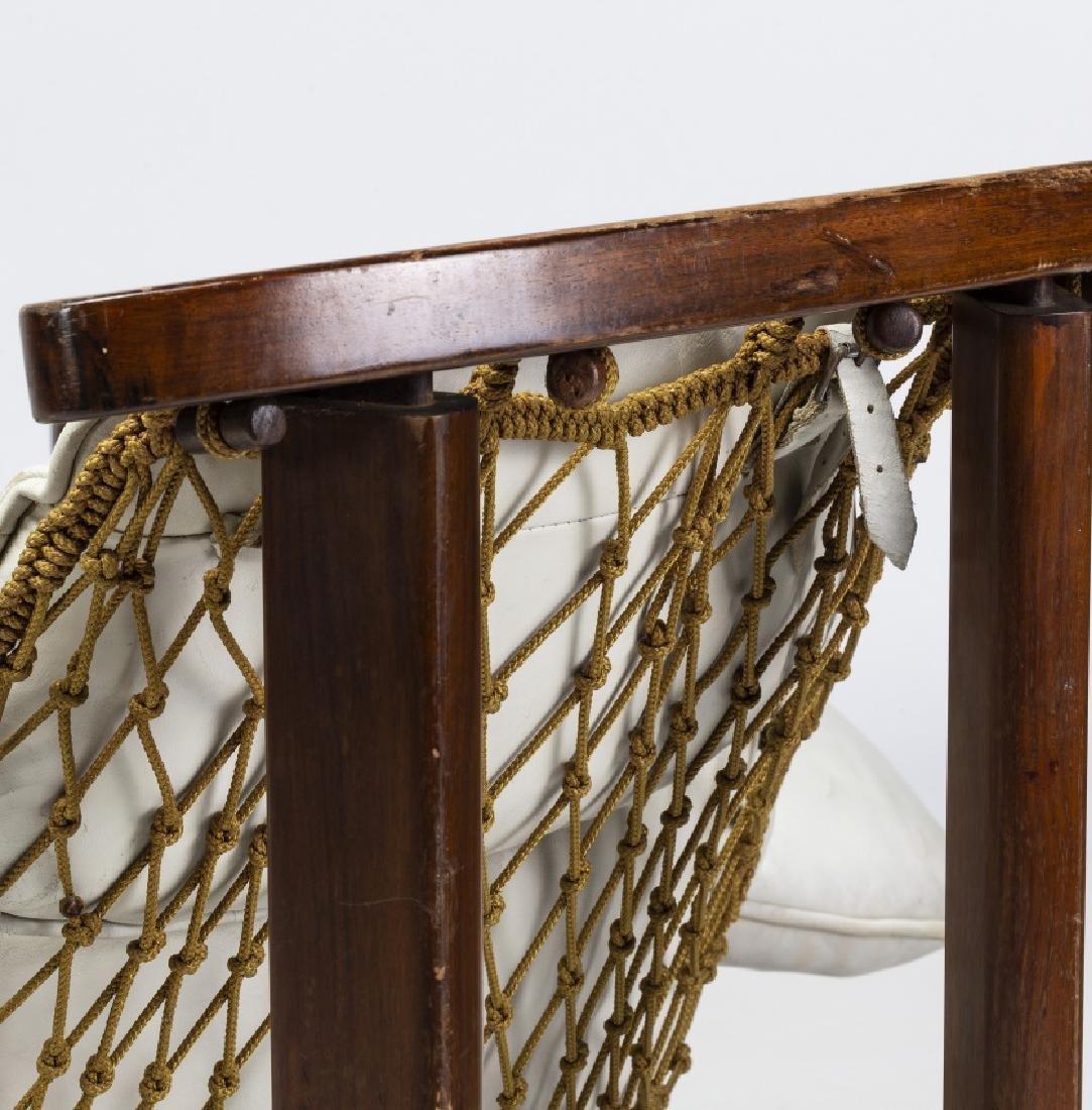 "Jean Gillon, ""Captain's"" armchair with ottoman, - 7"
