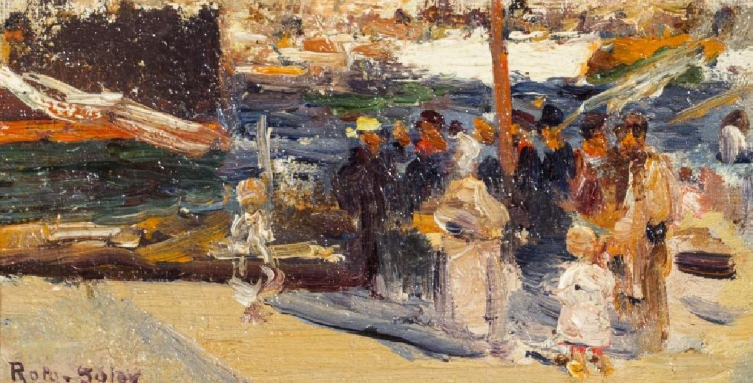 Joan Roig Soler, Sea scene, Oil on canvas