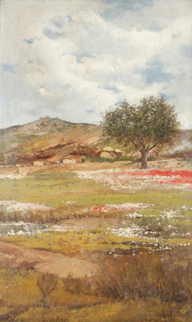 Josep Armet, Landscape, Oil on canvas