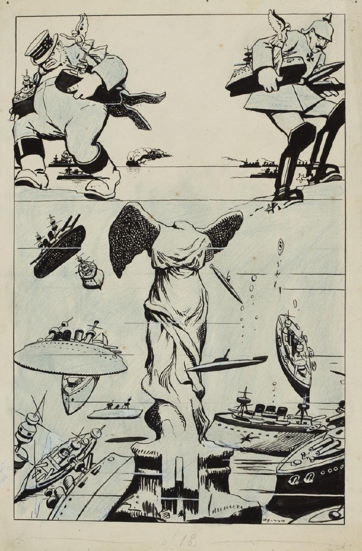 Ricard Opisso, Illustration of the First World War ,