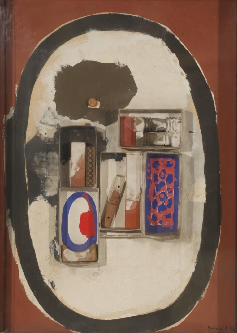 "Josep Guinovart, ""Petit homenatge al cubisme"", Collage"