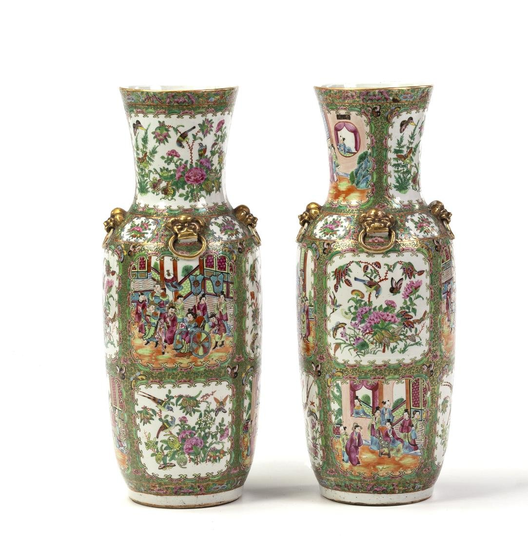 Pair of Chinese vases in Canton porcelain, late 19th