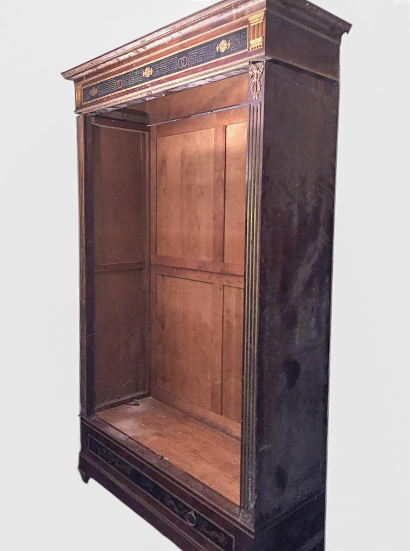 French Louis XVI style bookcase in mahogany, rosewood