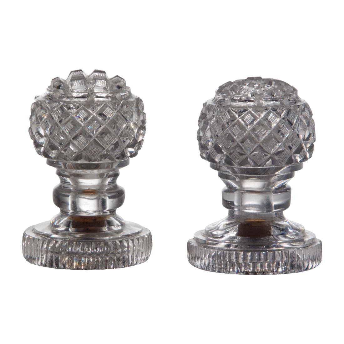 Pair of Glass Sugar Sifters or Casters
