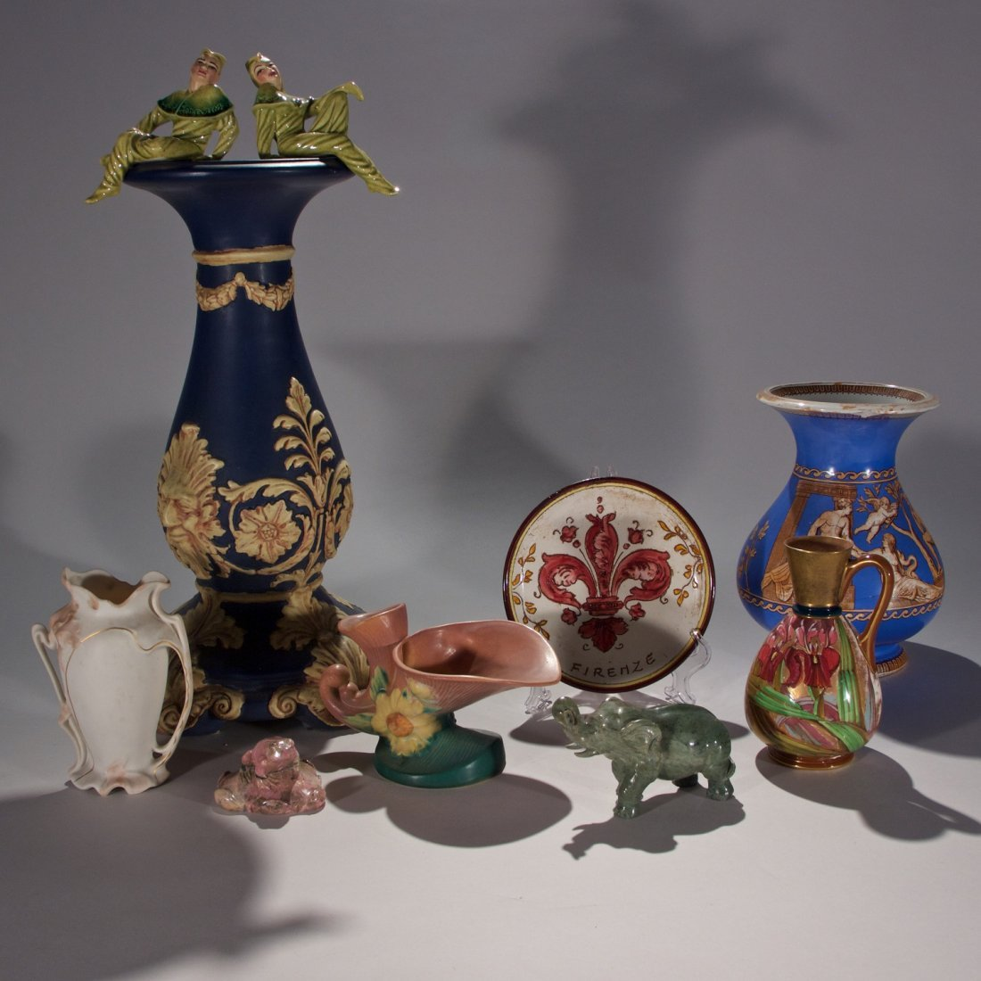 Grouping of Various Porcelain and Stone Objects