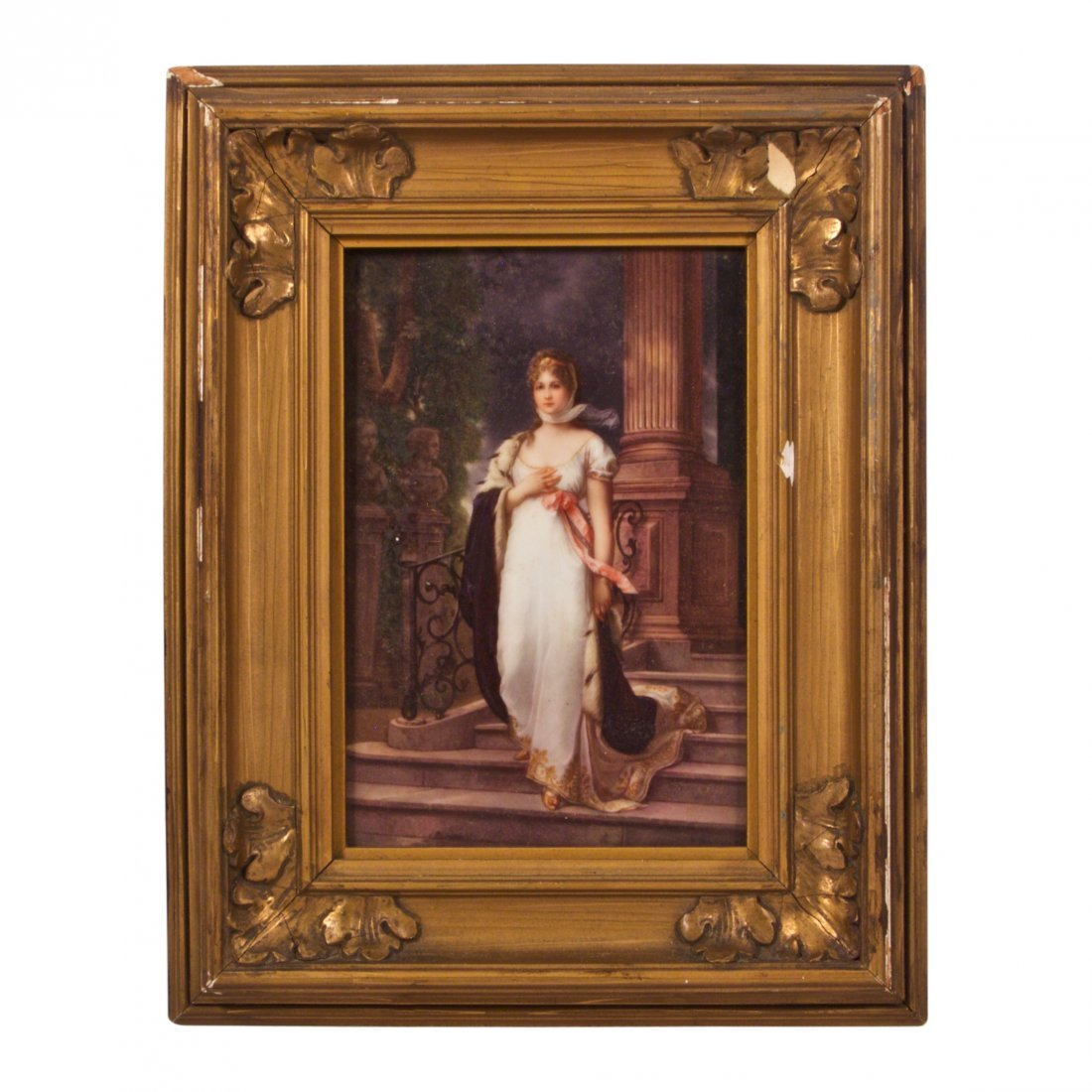 Dresden Porcelain Plaque of Princess Louise