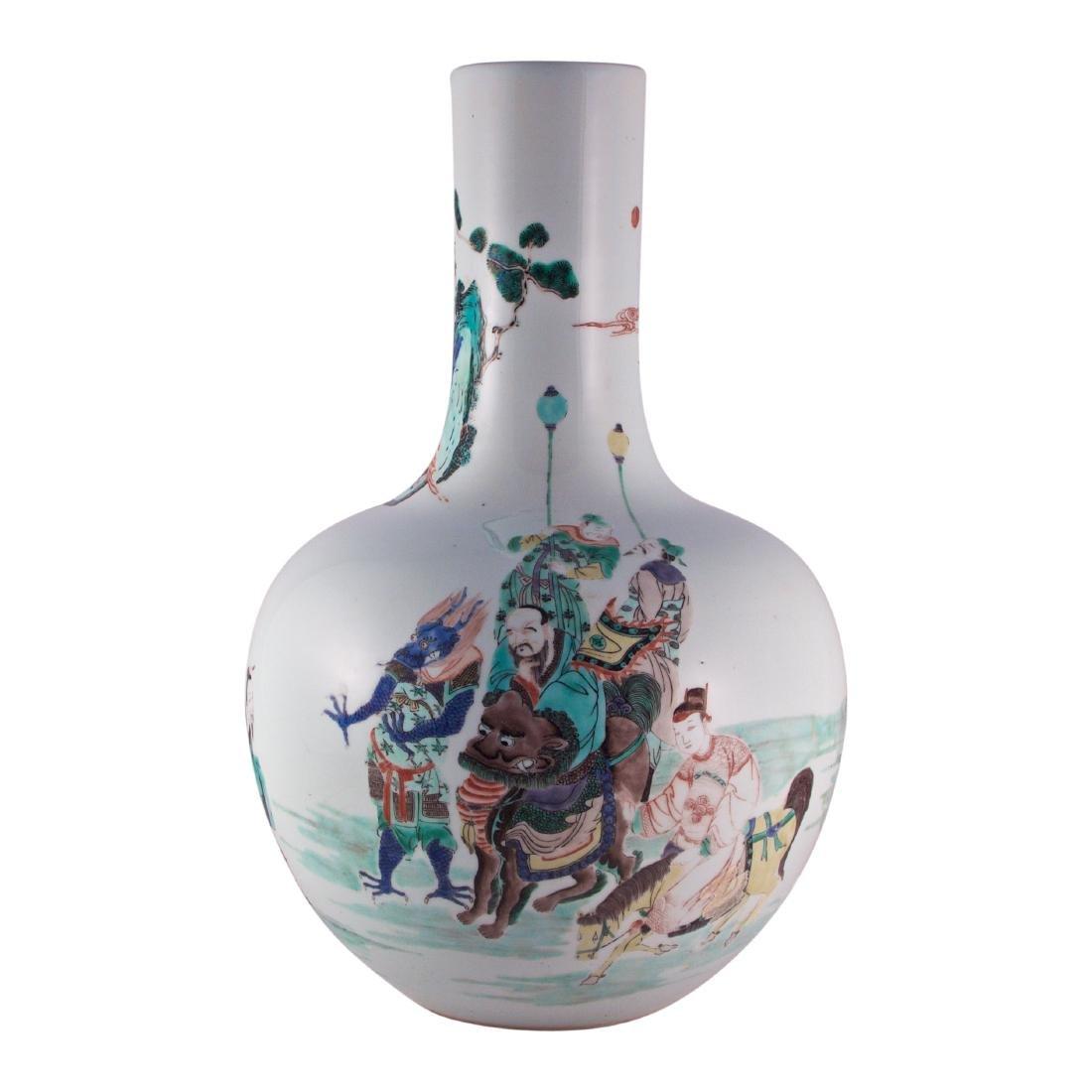 A Large Chinese Famille Vert Globular Vase