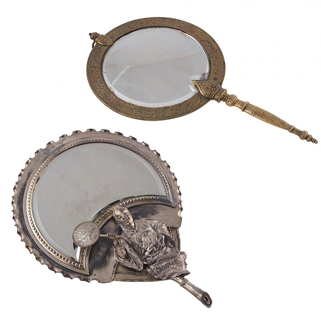 Hand mirror Cute Bronze Hand Mirror English Mirror Liveauctioneers Tiffany And Co Bronze Hand Mirror English Mirror