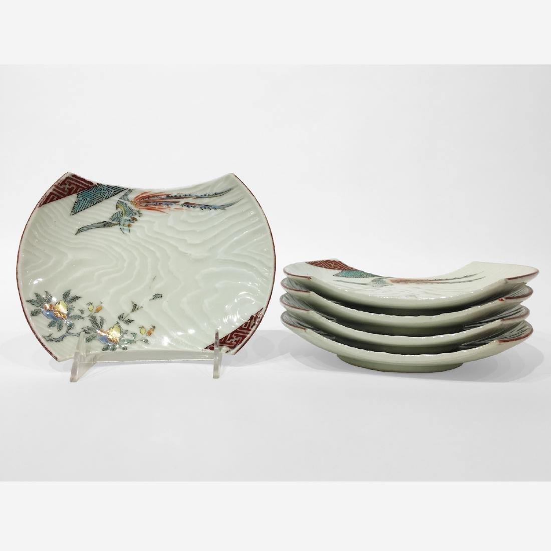 Set of 5 Japanese Imari Porcelain Dishes