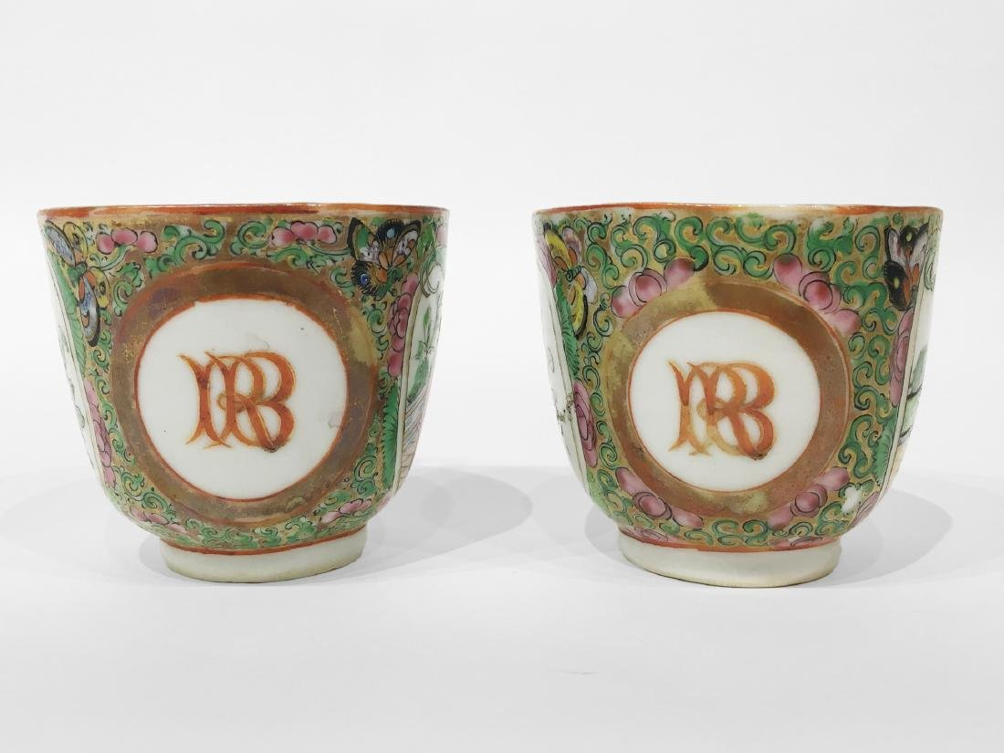 Two Chinese Export Rose Medallion Cups - 2