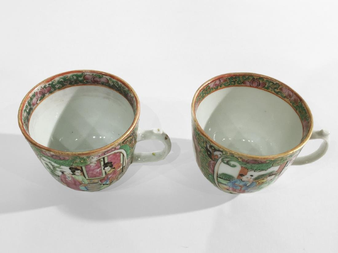 Two Chinese Export Rose Medallion Cups - 3