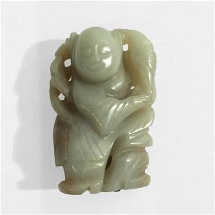Chinese Jade Boy Figure