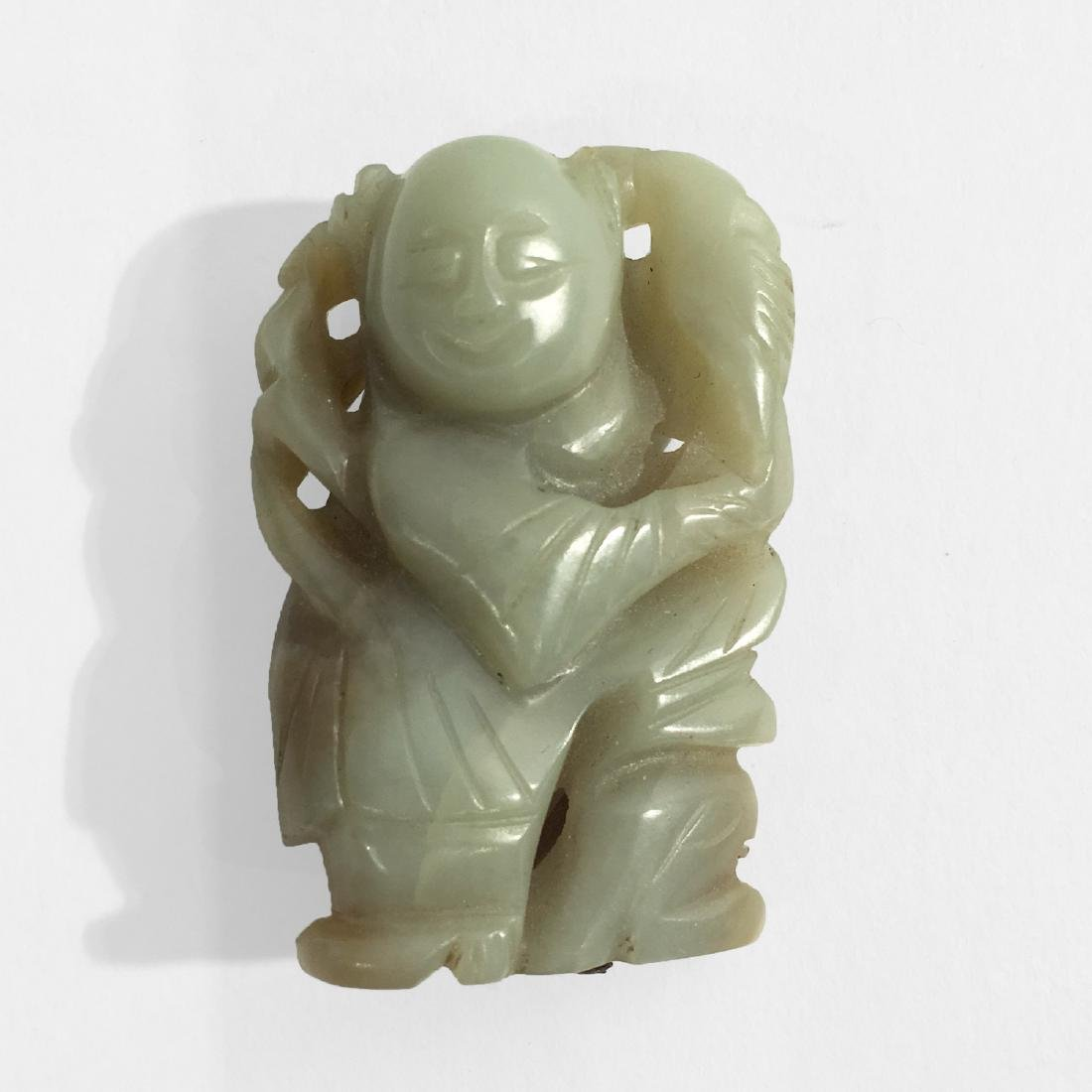 Chinese Jade Boy Figure.