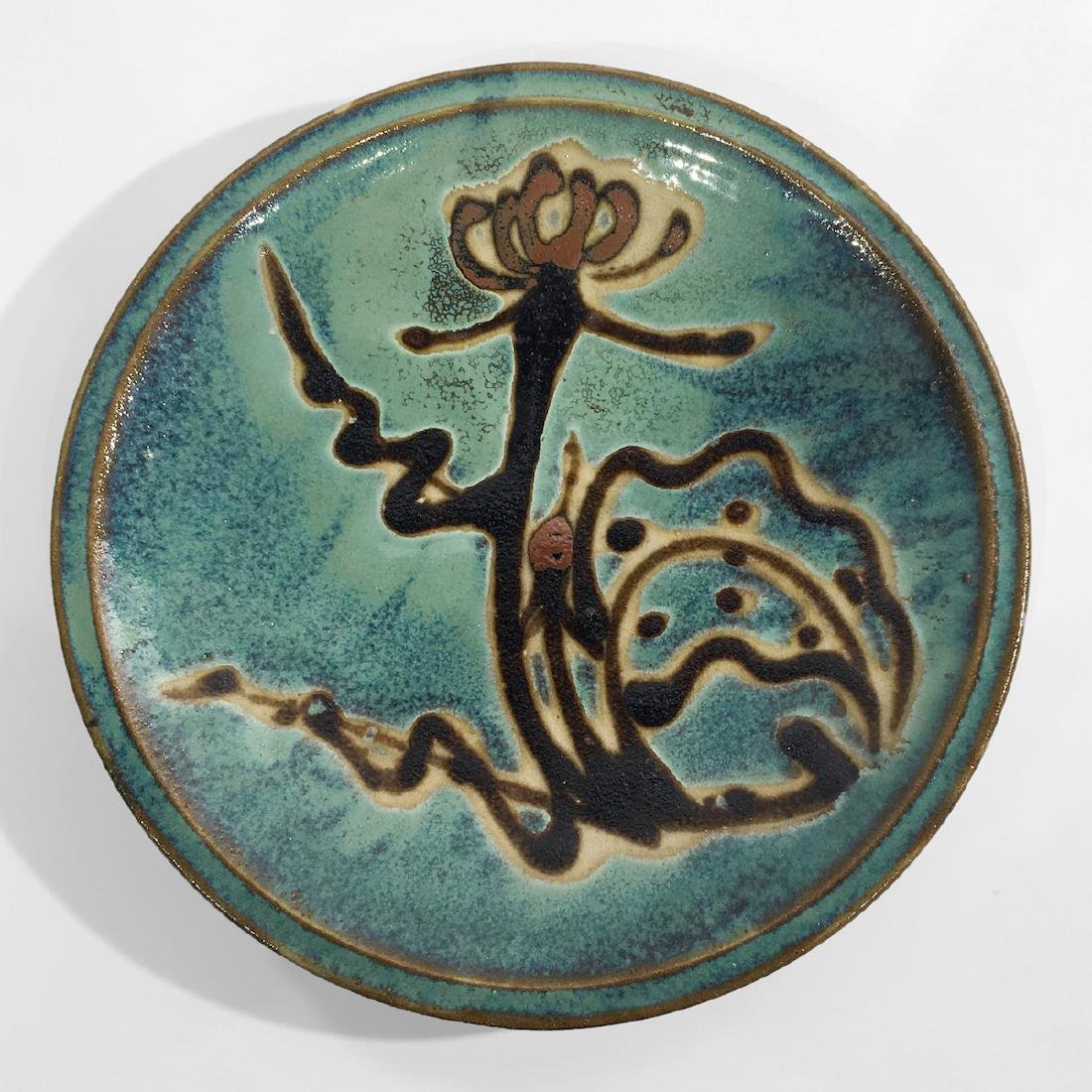 Large Japanese Pottery Charger, 1960s