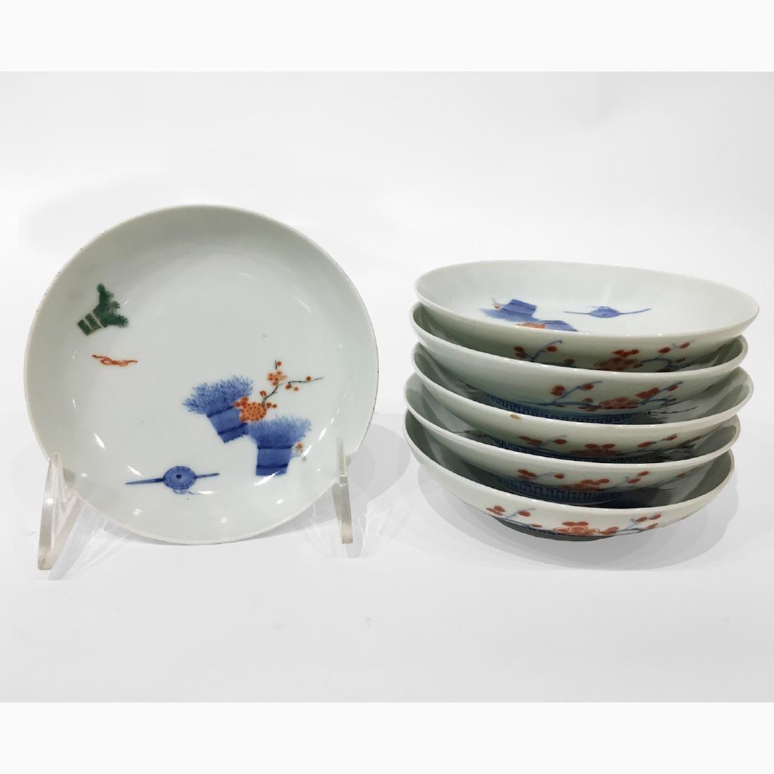 6 Japanese Imari Porcelain Dishes.