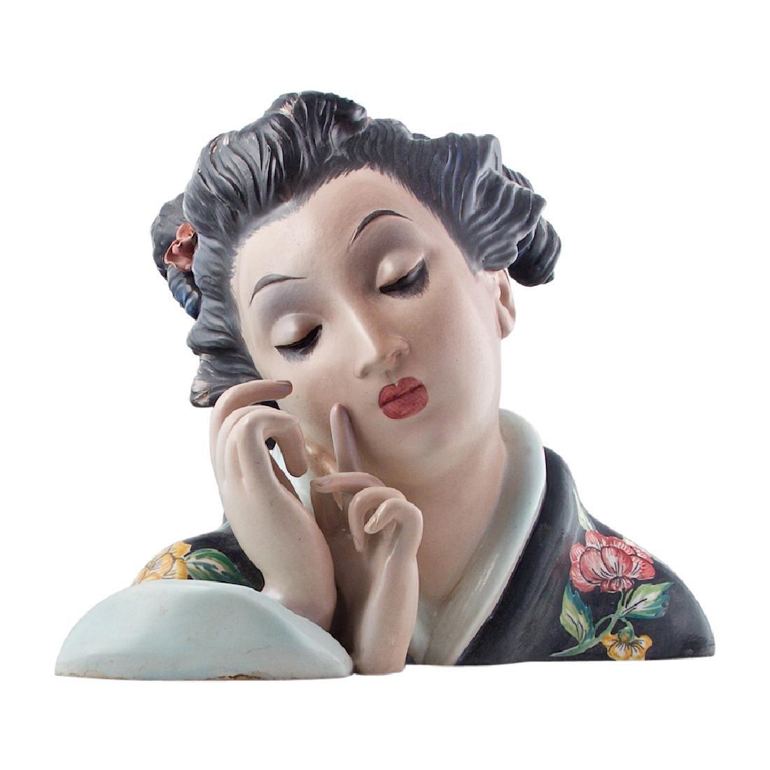 Large Porcelain Geisha Bust
