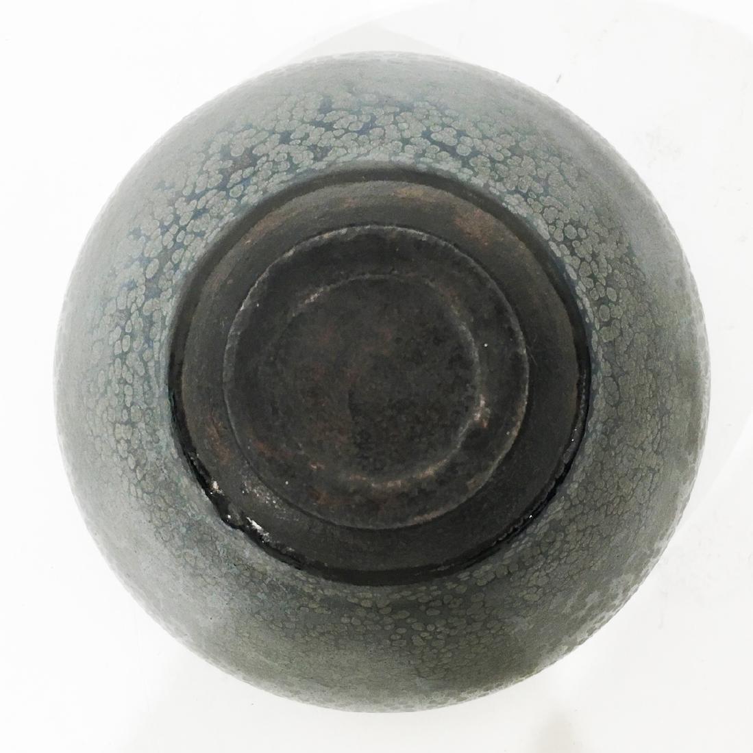 A Chinese Oil Spot Temmoku Bowl in Black Glaze - 3
