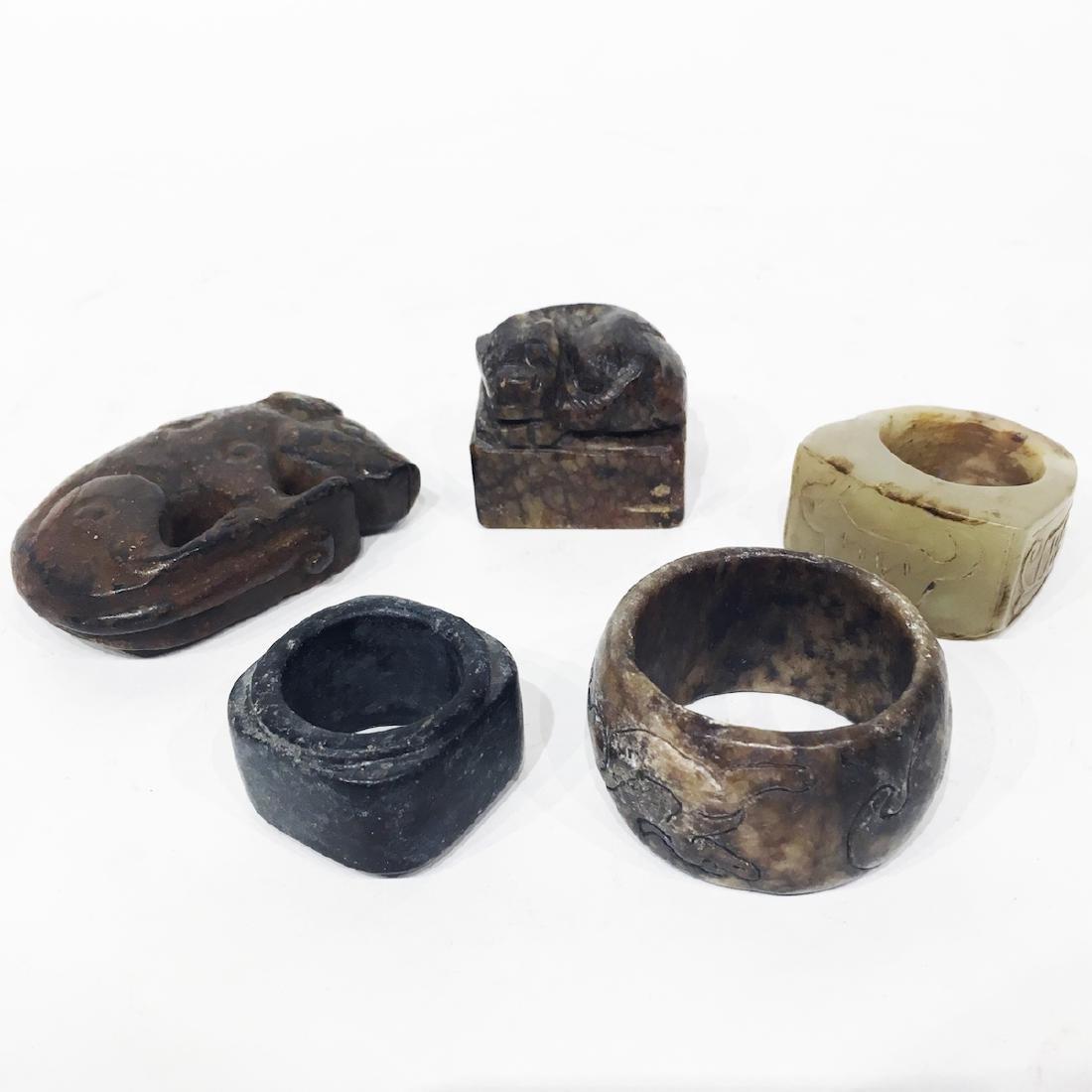 Archaic Nephrite Jade pieces