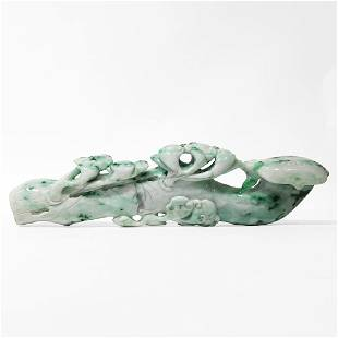Jadeite Plant Motif Scepter