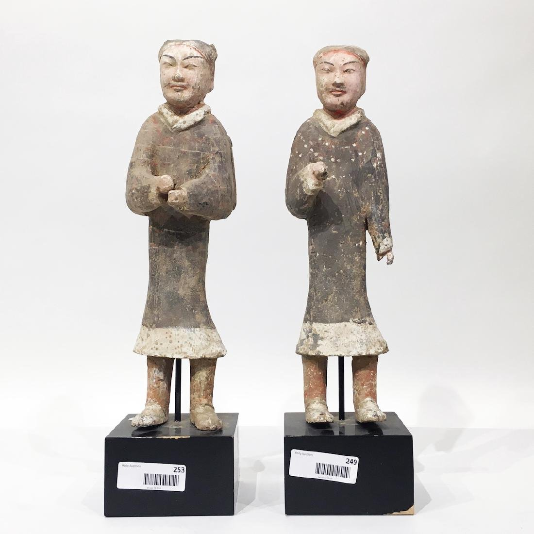 Pair of Chinese Terracotta/Pottery Figures