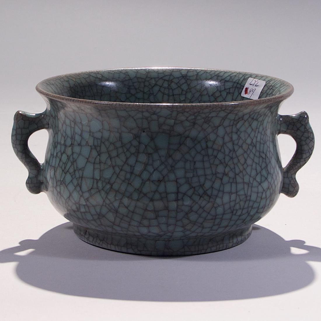 Chinese Ge Style Porcelain Incense Burner