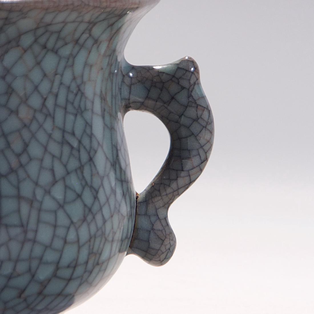 Chinese Ge Style Porcelain Incense Burner - 2