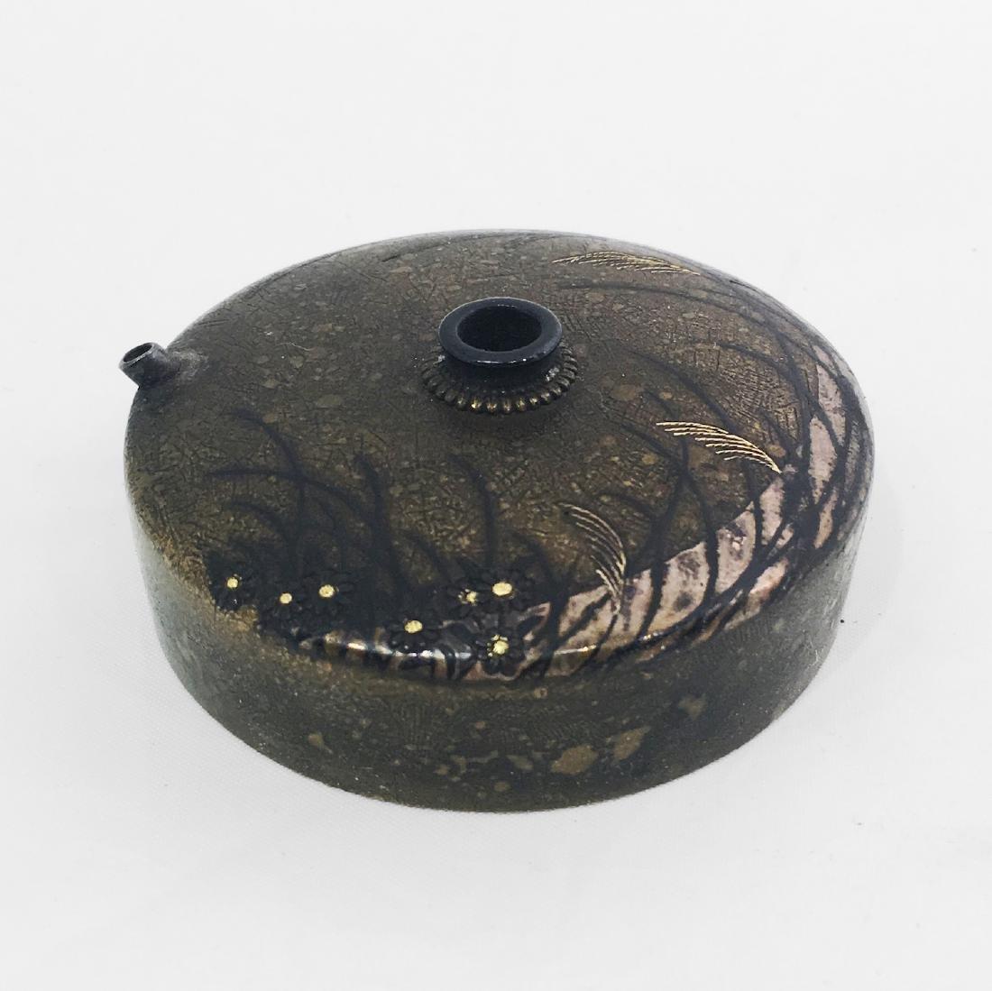 Japanese Meiji Inlayed Bronze Waterdropper
