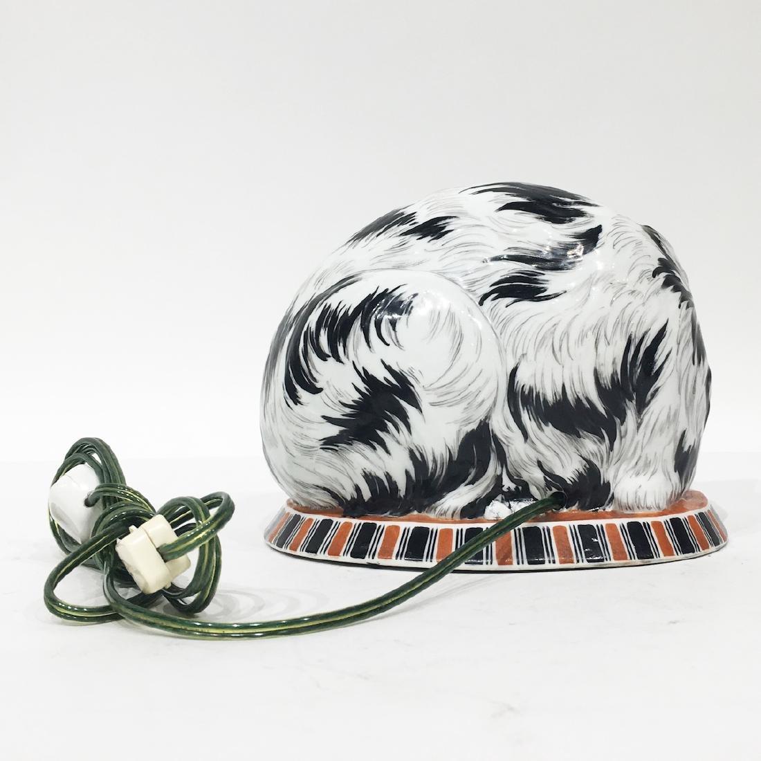 German Porcelain Cat lamp, marked - 2
