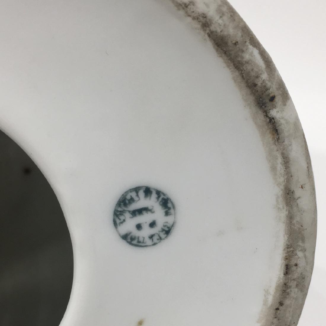 German Porcelain Cat lamp, marked - 3