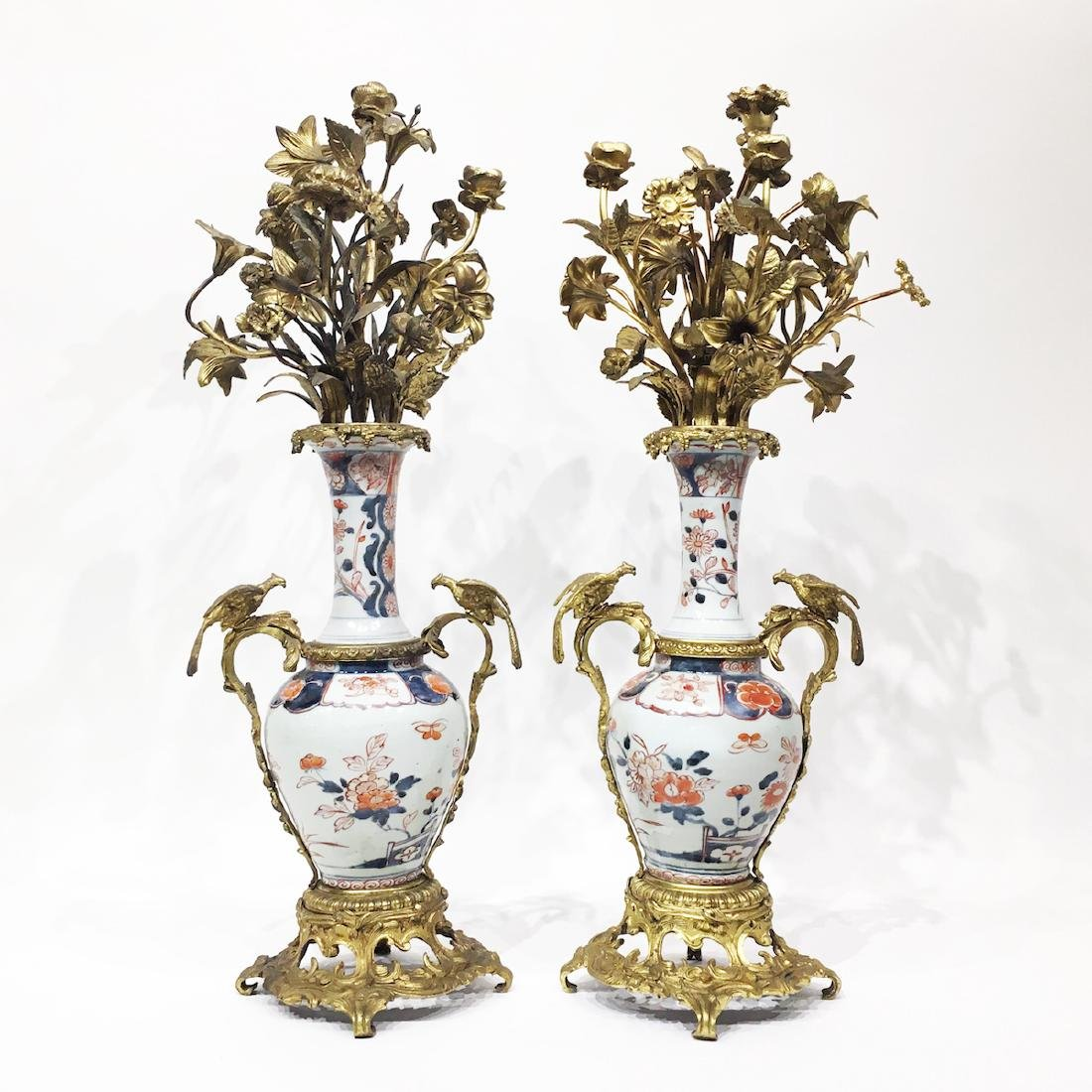 18th C. French Bronze Mounted Imari Vases
