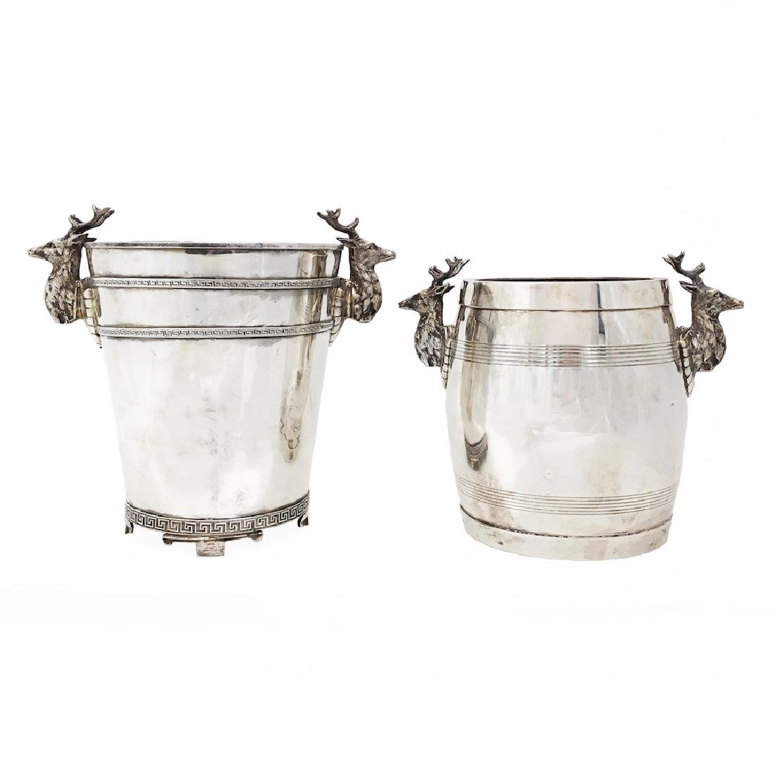 Pair of Silver Ice Buckets