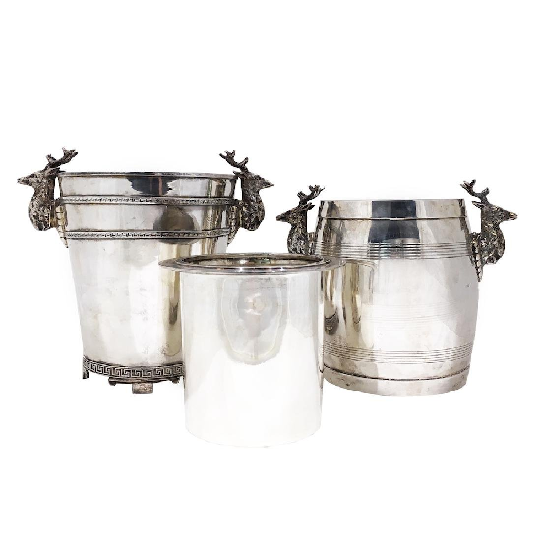 Pair of Silver Ice Buckets - 2