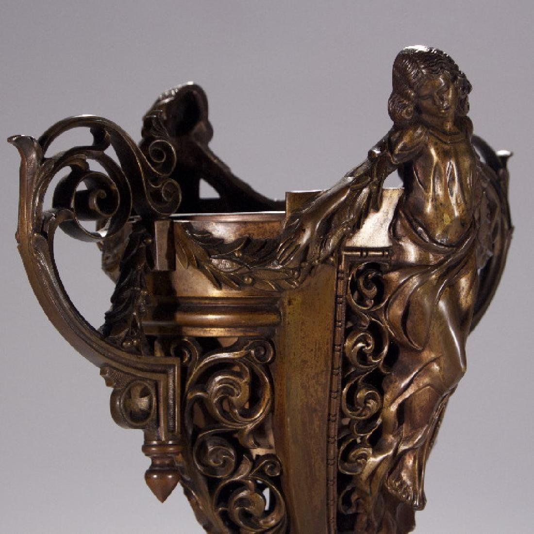 19th Century Partial Tantalus Set and One Bronze - 10