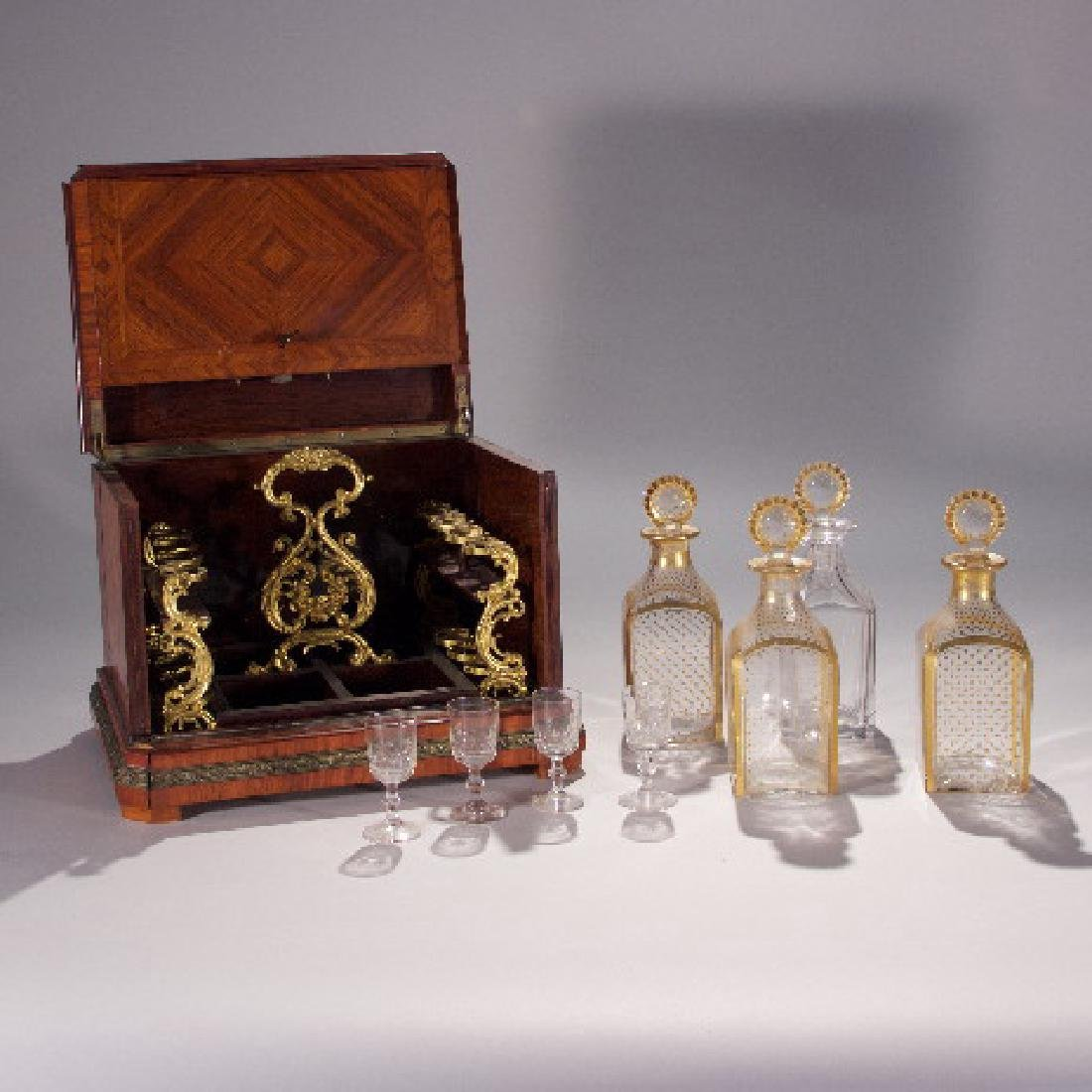 19th Century Partial Tantalus Set and One Bronze - 3