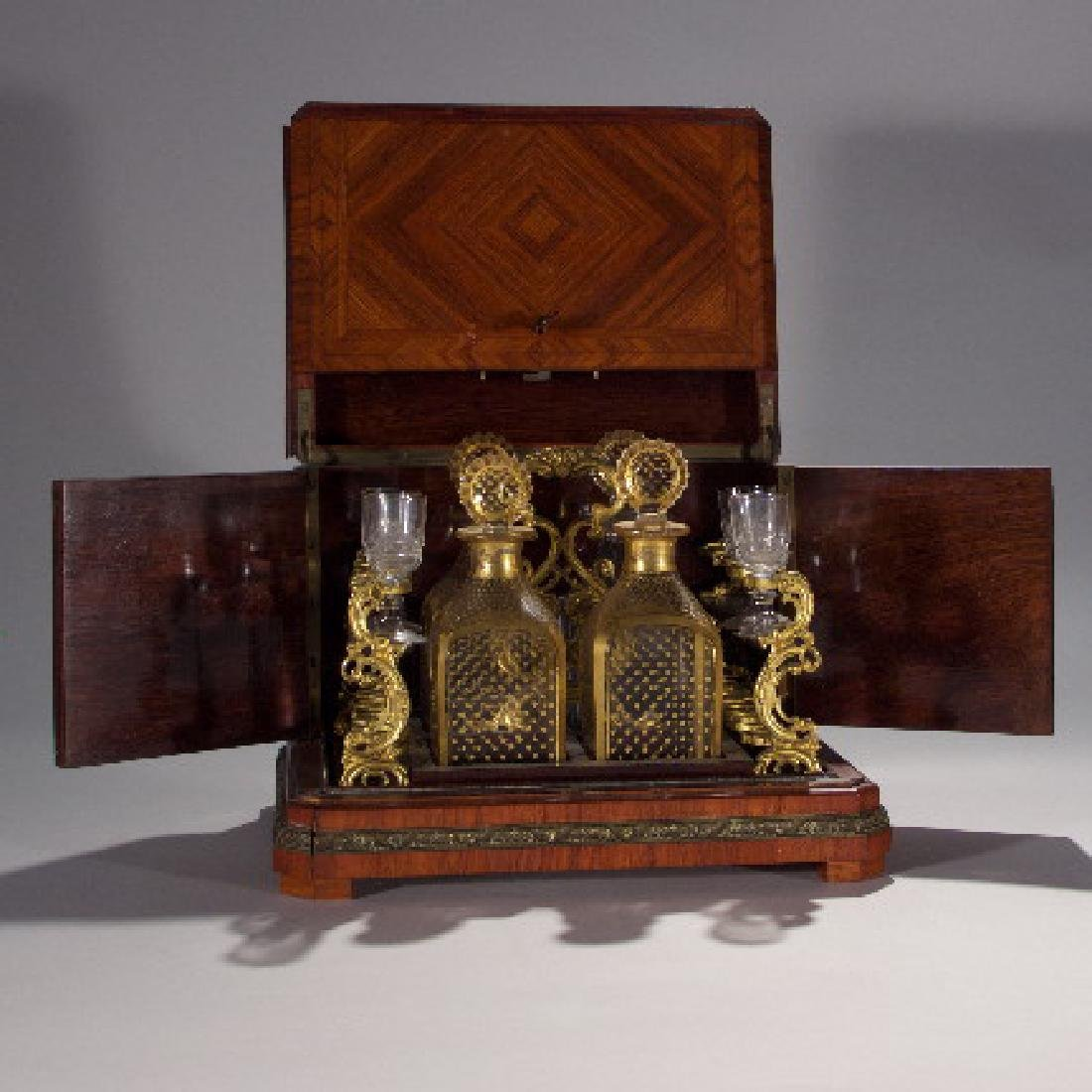 19th Century Partial Tantalus Set and One Bronze - 7