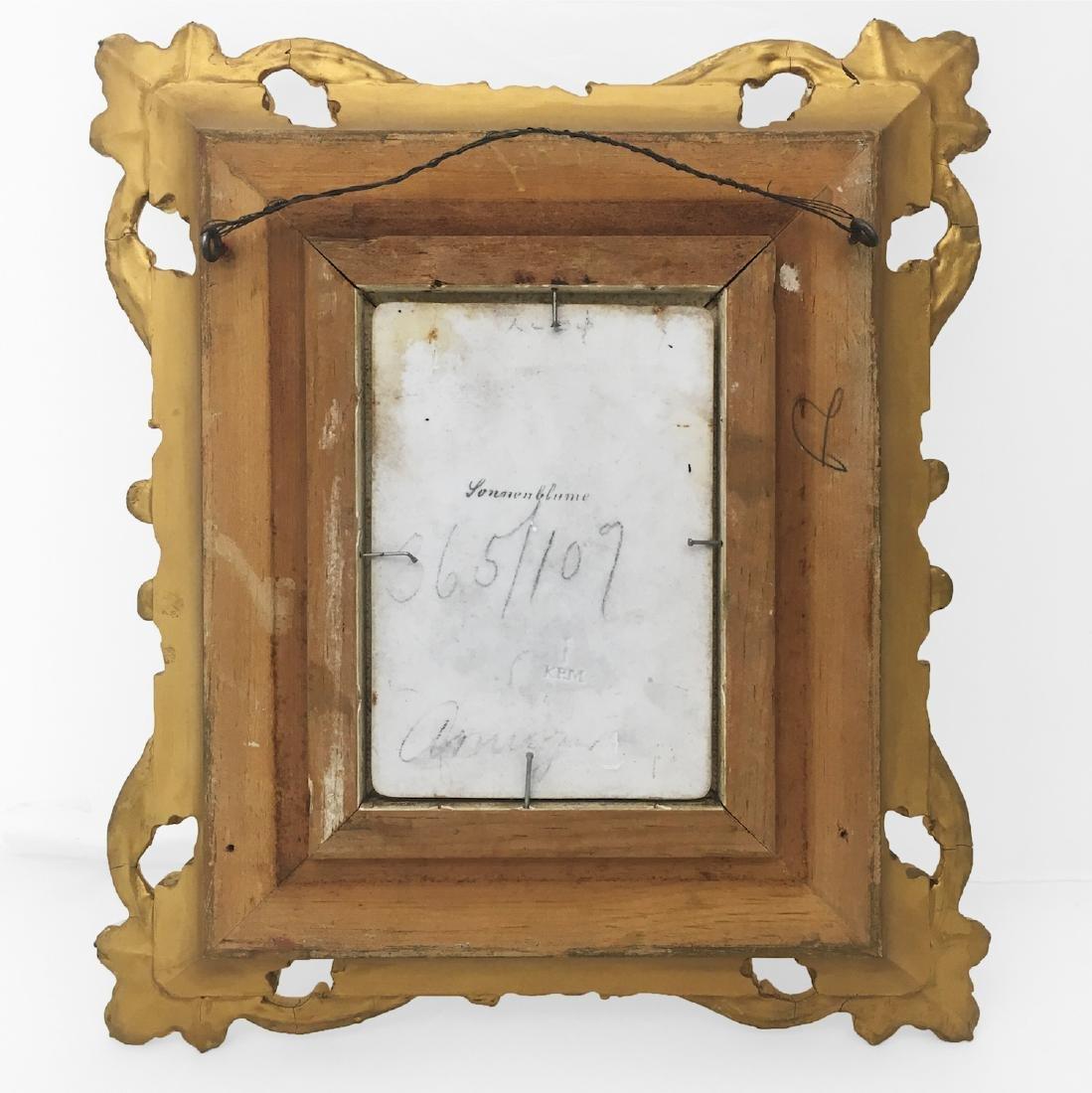 KPM Porcelain Plaque in Gold Gilt Frame - 2
