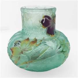 Galle Signed Glass Vase