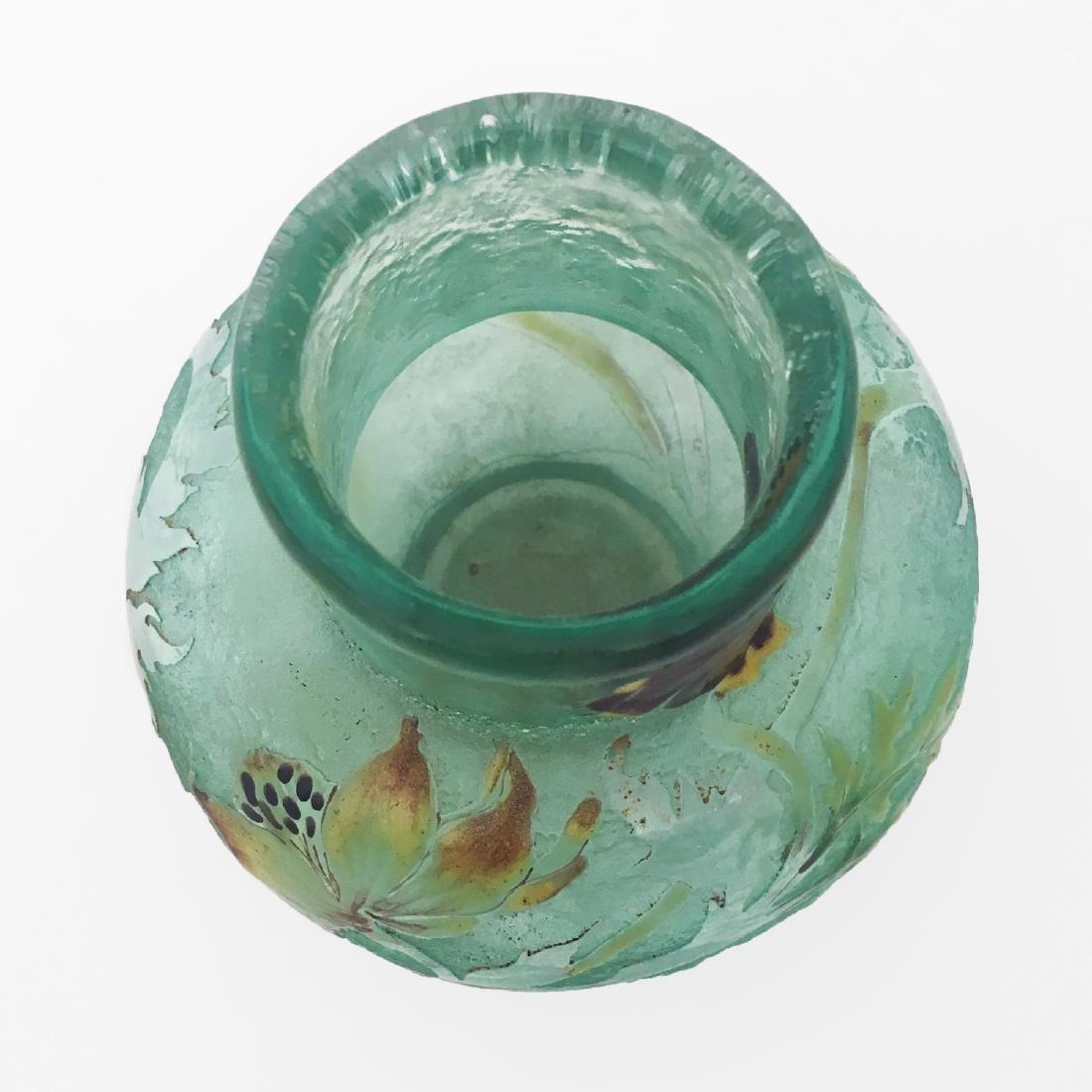 Galle Signed Glass Vase - 2