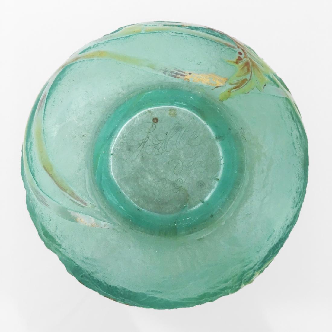Galle Signed Glass Vase - 3