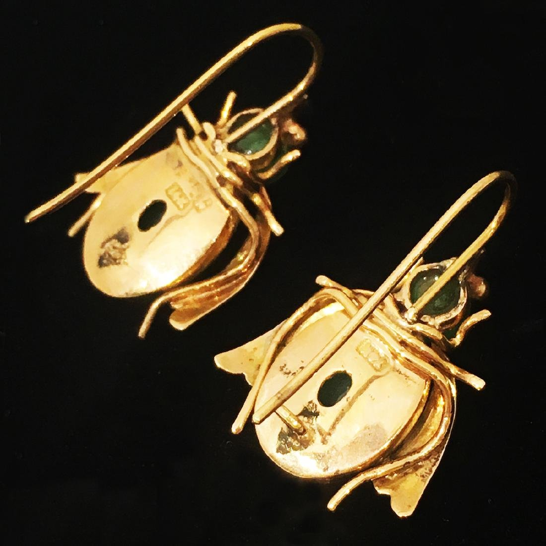 Green Jade Earrings - 2