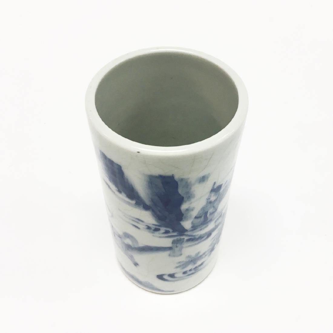 Chinese Porcelain Blue and White Brush Pot - 3