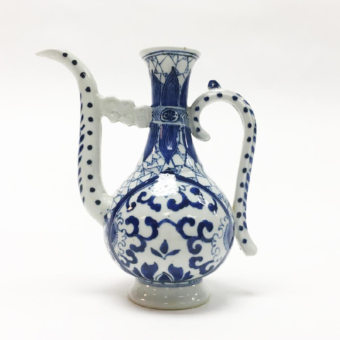 Chinese Porcelain Blue and White Ewer