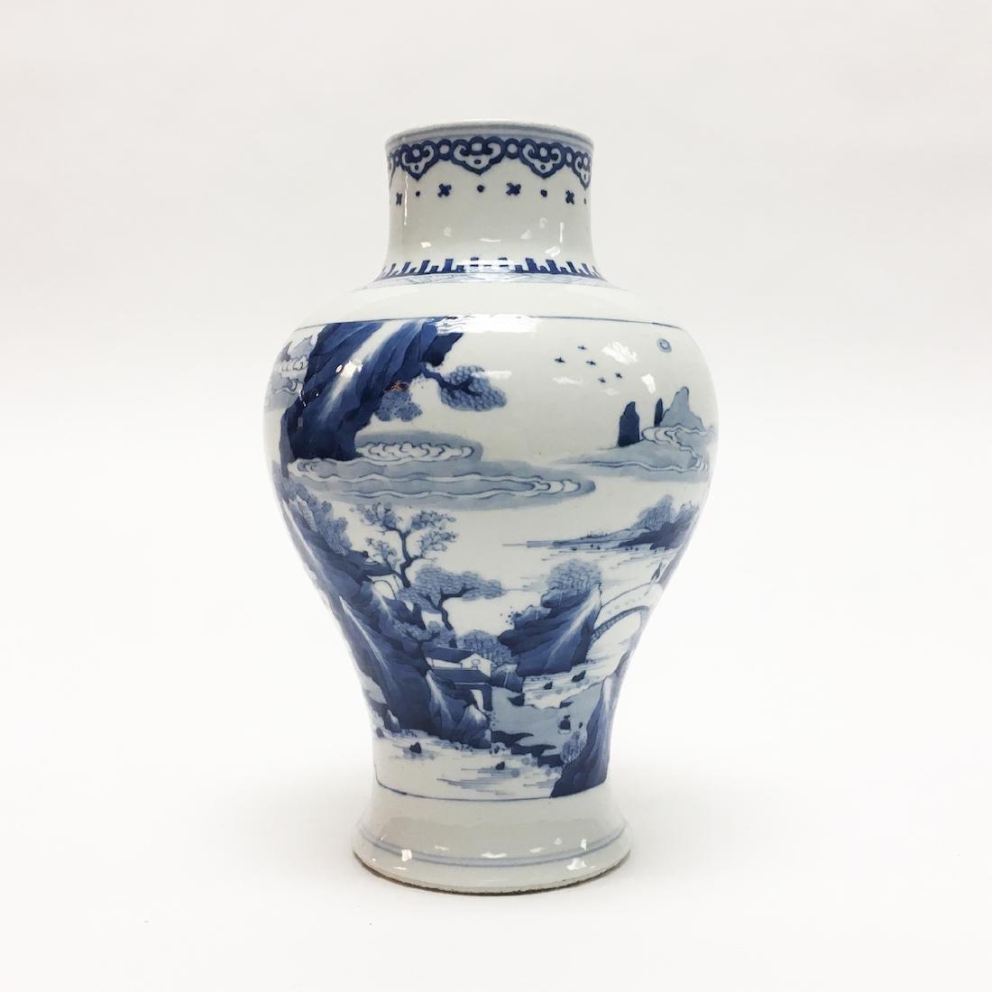 Chinese Porcelain Blue and White Vase - 2