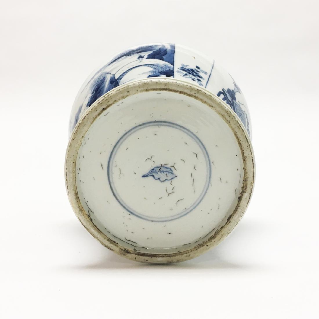 Chinese Porcelain Blue and White Vase - 4